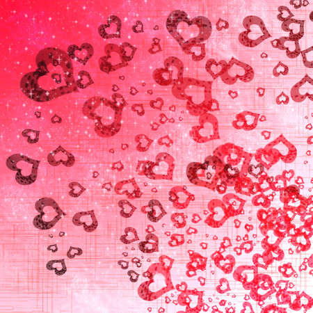 hearts background on pink  photo
