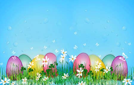 Easter Egg on the grass