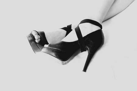 high heels woman reclining