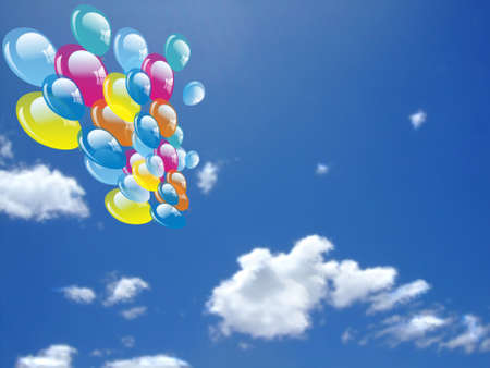 Balloon on sky photo