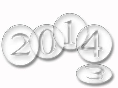 año nuevo, 2014 Foto de archivo - 21966261
