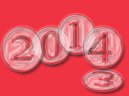 año nuevo, 2014 Foto de archivo - 21966262