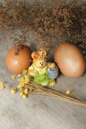 easter ,eggs, rabbit photo