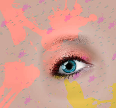 Eye makeup, paints