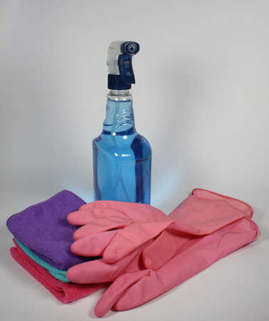 anti bacterial: cleaning products Stock Photo