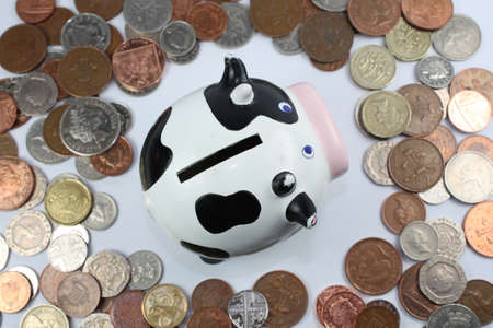 cash cow: cash cow surrounded by coins