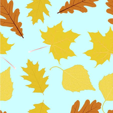 hornbeam: Autumn leaves. Seamless texture. Texture for background Illustration