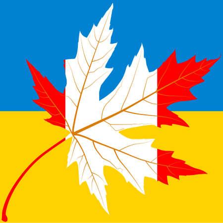 友情カナダ - ウクライナ。記号です。
