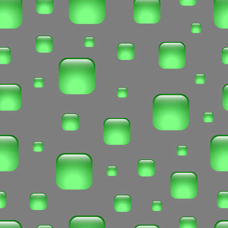 Seamless green abstract geometric pattern. Squares with rounded corners. Background for the web, email, print products, typography.