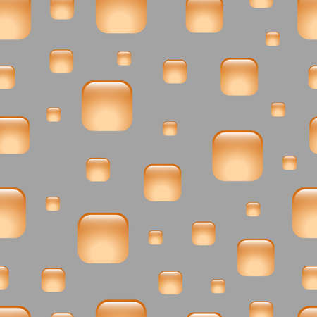 multimedia background: Seamless orange abstract geometric pattern. Squares with rounded corners. Background for the web, email, print products, typography. Illustration
