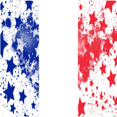 Vector France grunge flag. Using for decoration works.