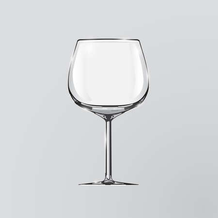 Realistic vector illustration of a wine glass. Wine glass. Clip art - wine glass. Element of desing. Ilustração