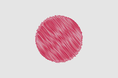 flag: Flag of Japan  pencil drawing vector illustration. Using for decoration works. Illustration