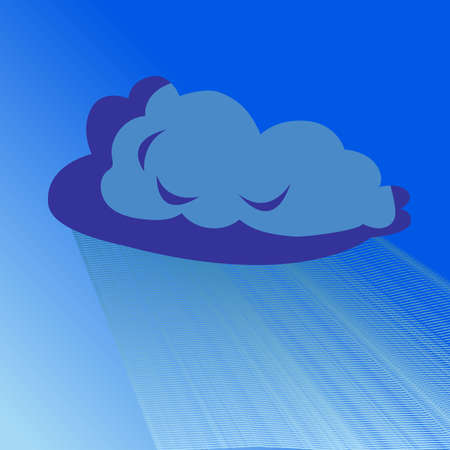 Rain cloud vector blue illustration isolated. Element of weather
