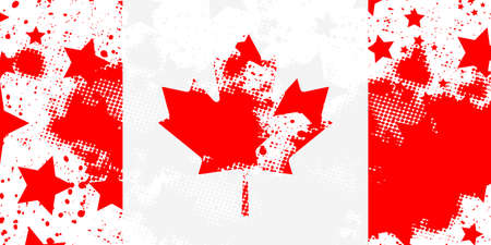 Canadian flag. Vector grunge flag. Using for decoration works.