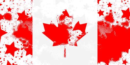 Canadian flag. Vector grunge flag. Using for decoration works.