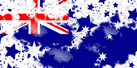 Australian flag. Vector grunge flag. Using for decoration works.