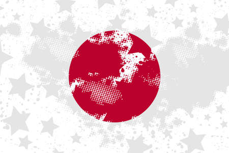 Vector Japanese grunge flag. Using for decoration works.