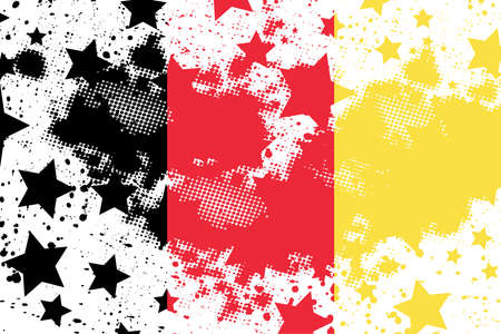 Vector Belgium grunge flag. Using for decoration works.