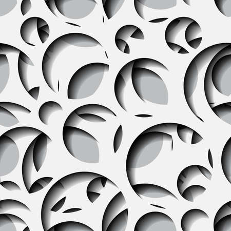 Seamless texture - paper cut circles. Background for web, banner, cards, e-mail etc. Ilustração
