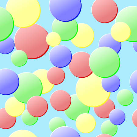 Colored circles. Seamless Texture for background image on websites, e-mails, etc. Cream-colored Background. Warm colors. Illustration