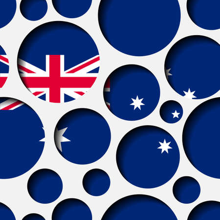 Texture - paper cut circles. Australian flag. Background for web, bunner, cards, e-mail etc