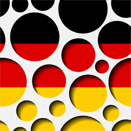 Texture - paper cut circles. German flag. Background for web, bunner, cards, e-mail etc