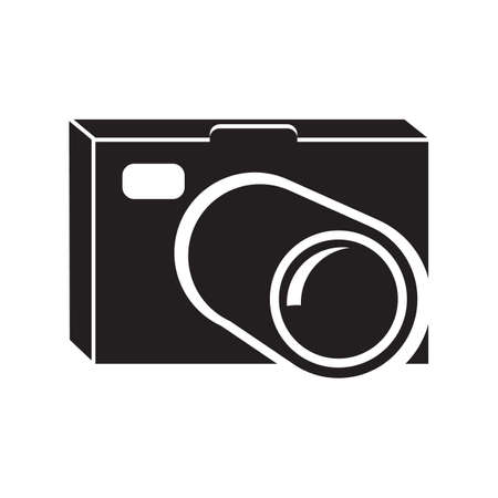 Camera icon on white background. Vector illustration.