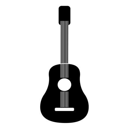 Acoustic guitar icon. Flat icon. Simple icon