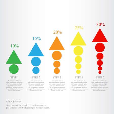 Modern design for business steps options diagram info graphic. Vector illustration. Info graphic. Layout design. Template. Web design. Five step.