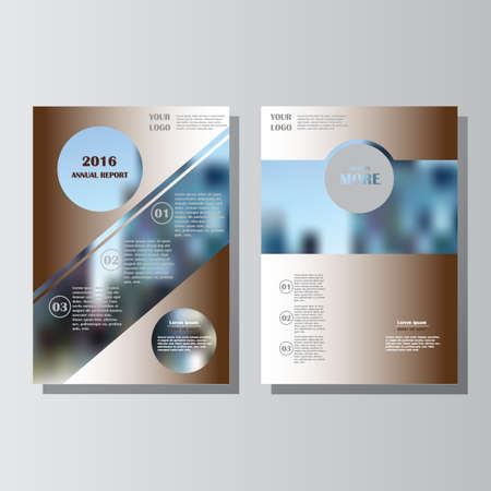 Brown annual report leaflet brochure flyer template A4 size design, book cover layout design. Abstract blue presentation templates. Lorem ipsum.