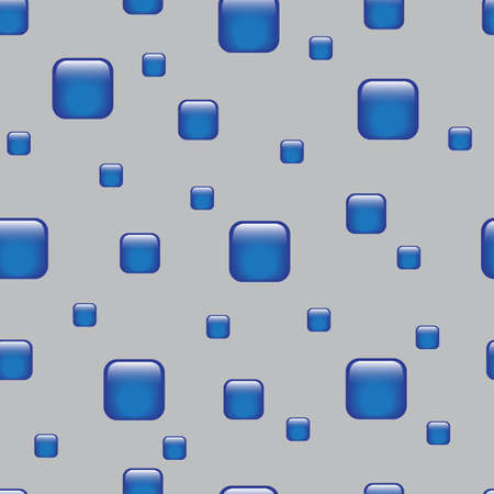 Seamless abstract geometric pattern with blue elements. Grey background. Vettoriali