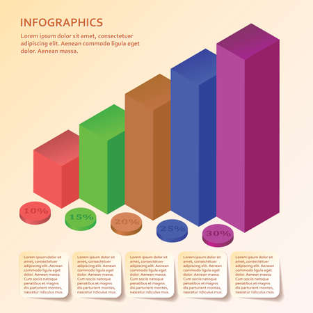 Modern design for business steps options diagram info graphic. Info graphic. Layout design. Template. Web design. Five step.