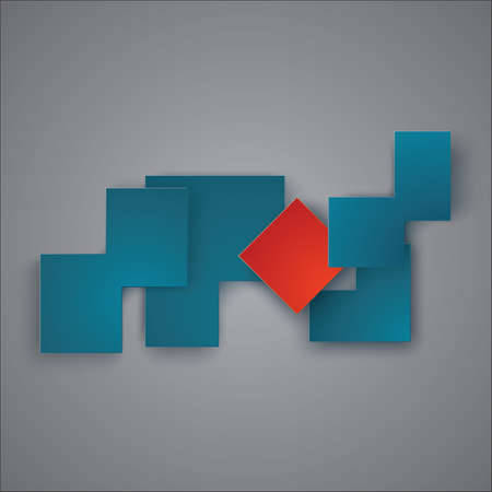 Background. Infographic Templates for Business Vector Illustration. EPS10. Polygons cut from color paper. Red square, as an individuality among other figures. Imagens - 79937303