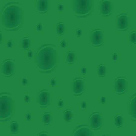 Green seamless pattern. Texture with transform twirl circles.