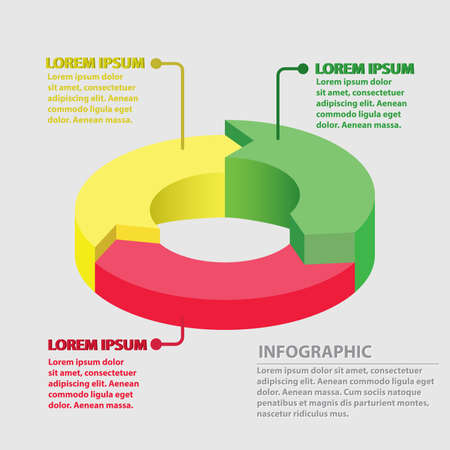 Vector circle arrows infographic, cycle diagram, graph, presentation chart. Business concept with 3 round options, circular parts, equal steps, processes. Imagens - 80834301