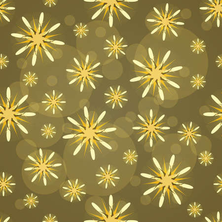 Seamless texture. Abstract pattern with yellow figures. Abstract yellow flowers. Taxtile pattern. Imagens - 80840772