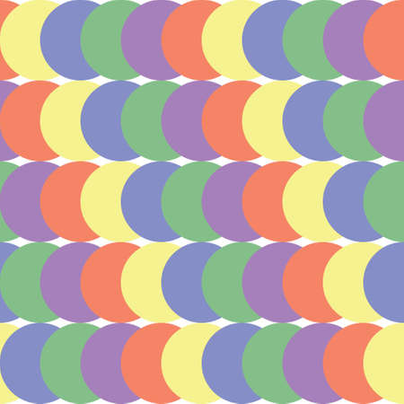 Abstract seamless geometric pattern. Colored rounds. Harmony colors Ilustração