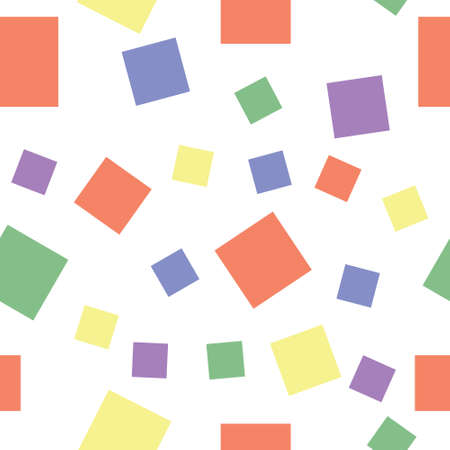 Abstract sweet squares seamless children background. Color stickers.