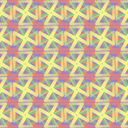 Abstract seamless geometric pattern. Ethnic tribal motifs. Imagens - 81815734