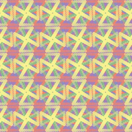 Abstract seamless geometric pattern. Ethnic tribal motifs. Vettoriali