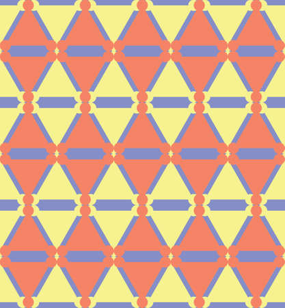 Abstract seamless geometric pattern. Ethnic tribal motifs. Ilustração