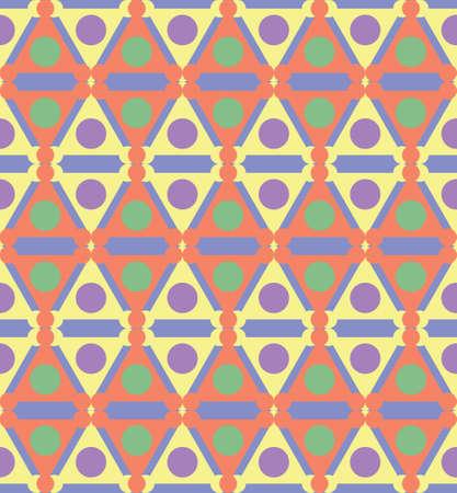 triad: Abstract seamless geometric pattern. Ethnic tribal motifs. Illustration