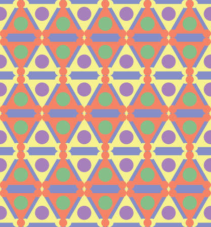 Abstract seamless geometric pattern. Ethnic tribal motifs. Illustration