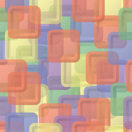 chaos: Abstract sweet squares seamless children background. Colored steackers.