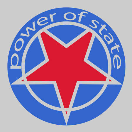 Power of State. Symbol. Character Simple decoration
