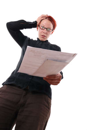 woman gets shocked by an announcement