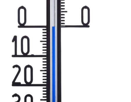icebox: thermometer displaying zero degree