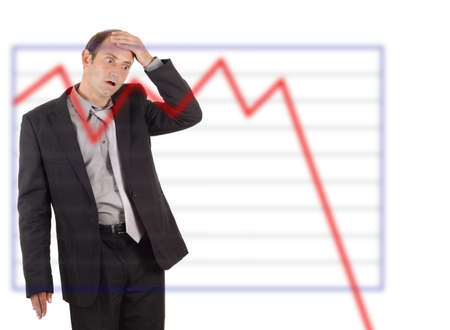 business graph chart shock Stock Photo - 9914181
