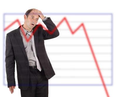 business graph chart shock